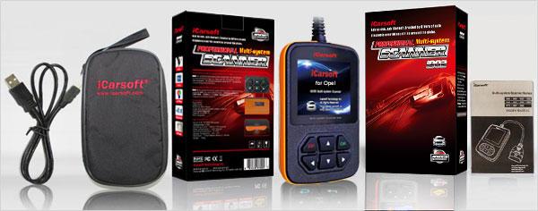 Портативный диагностический сканер iCarsoft i902 для автомобилей Opel и OBD II