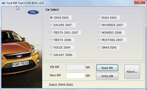 Адаптер Ford KM Tool CAN BUS 2.0
