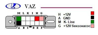 Переходник ВАЗ/Daewoo (12pin) на OBD II м